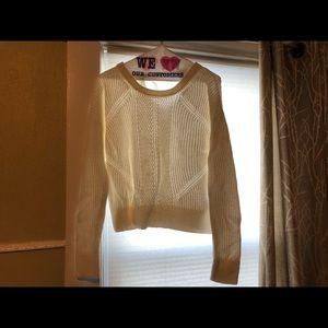 Gap buckle back white sweater